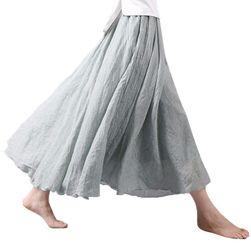 Przewiewna lniana spódnica we wszystkich kolorach