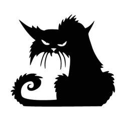 Pisica neagră pe perete