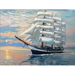 Картина според цифри - кораб