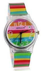 Damski tęczowy zegarek