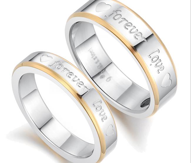 Inel cu inscriptie romantica Love pentru el si pentru ea 1