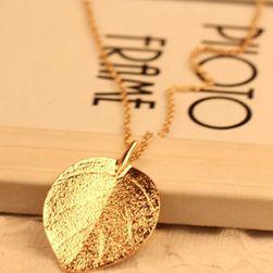 Naszyjnik z listkiem w kolorze złotym