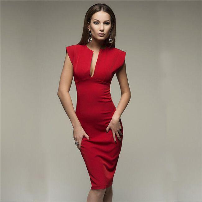 Dámské šaty Caitlin - Červená-velikost č. 4 1