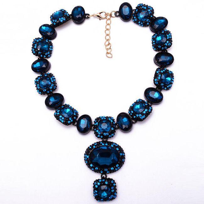 Výrazně zdobený náhrdelník - 3 barvy 1