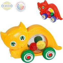 SMĚR Kočka baby na kolečkách s míčky 2 barvy PLAST SR_101403