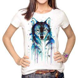 T-shirt damski z oryginalnym rysunkowym motywem - 20 wariantów