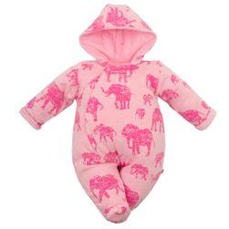 Zateplená kojenecká kombinéza s kapucí RW_kombineza-sloni-cak-Babys178