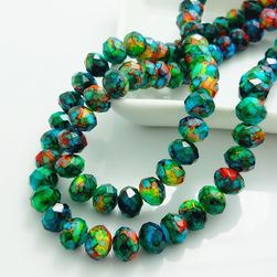 Szklane koraliki do tworzenia biżuterii zielone