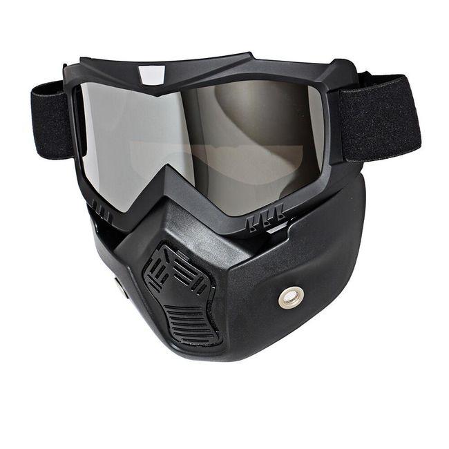 Motocross maska z odstranljivimi očali 1