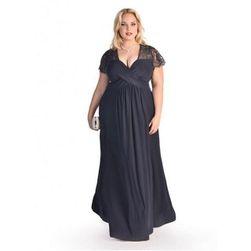 Dámské šaty v plus size velikostech v elegantním provedení - Námořní modř Modrá-28w