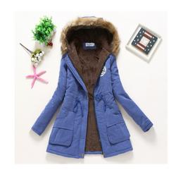 Dámská zimní bunda Jane Safírová-velikost č. M