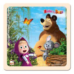 Máša a Medvěd puzzle s myškou 20x20cm RS_16118