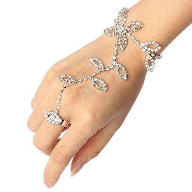 Празнично бижу за ръка с кристали 1