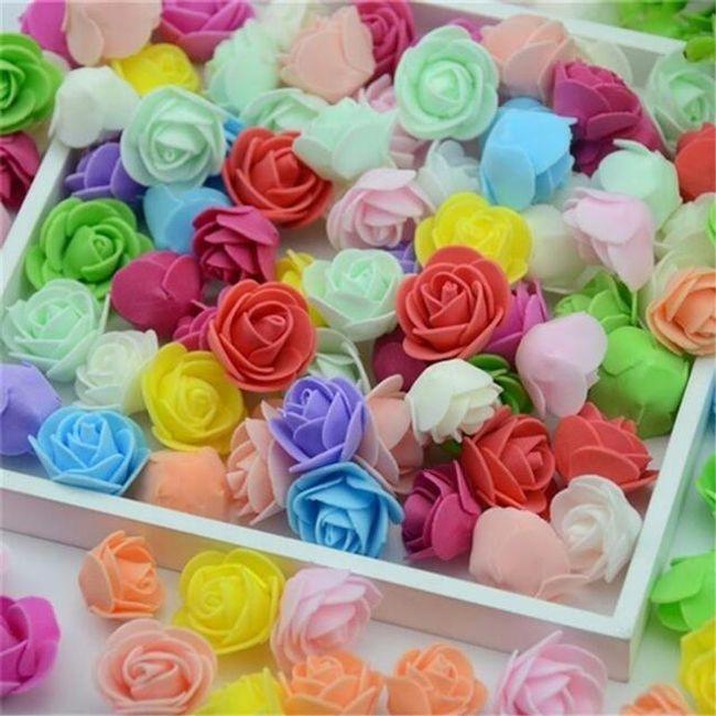 Set ruža od pene - 100 komada - 23 boja 1