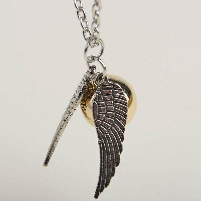 Krásný řetízek s přívěskem a andělskými křídly - 2 barvy 1