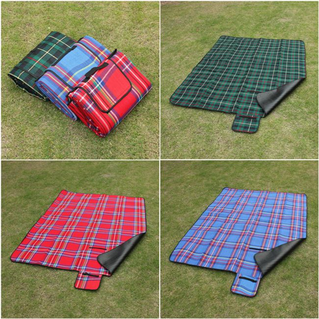 Deka na piknik s nepromokavou spodní vrstvou - 3 barvy 1