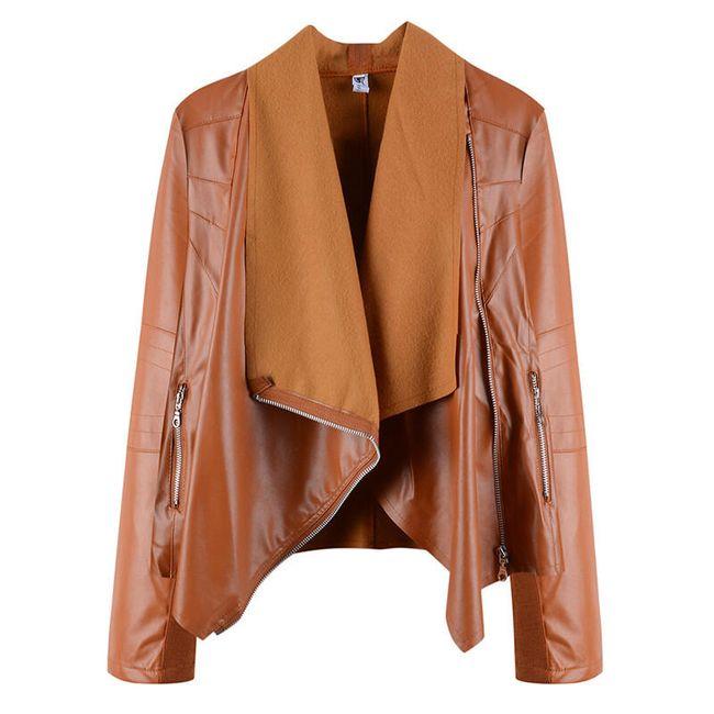 Ženska jaknica od veštačke kože - 6 varijanti 1