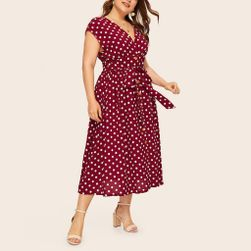 Damska plus size sukienka TF8873