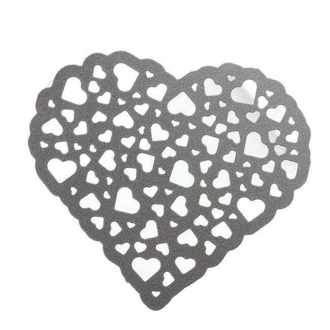 Kovová šablona pro kreativní tvoření - Srdíčky děrované srdce 1