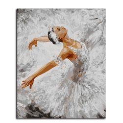 Slikanje po brojevima - balerina