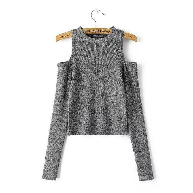 Tričko s dlouhými rukávy a odhalenými rameny 1