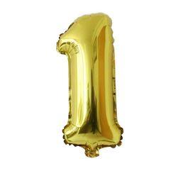 Nafukovací balónky ve tvaru čísla 1