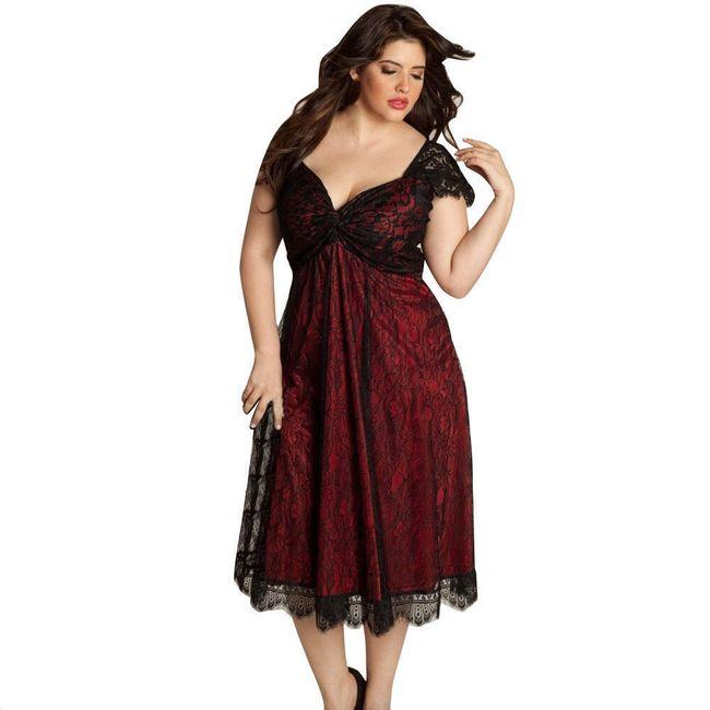 Společenské šaty s krajkou - velikost č. 7 1