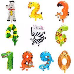 Baloane cu motive animale şi cifre - 1 bucată