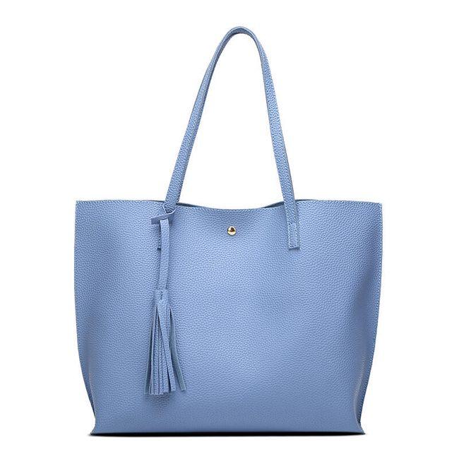 Prostorná kabelka se střapcem - 7 barev 1