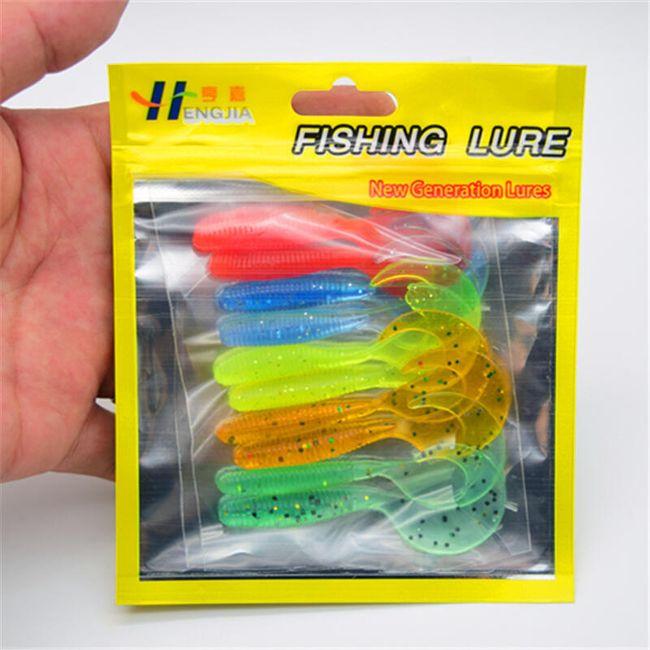 Návnada pro rybaření ve tvaru housenek - 10 ks 1