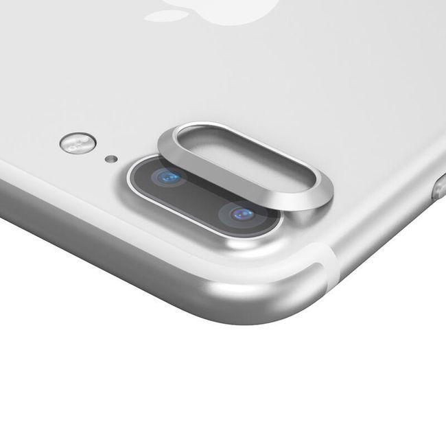 Kovová krytka na čočku fotoaparátu pro iPhone 7 Plus 1