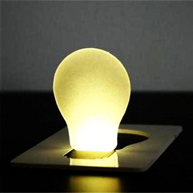 LED światło do kieszeni w wielkości karty 1