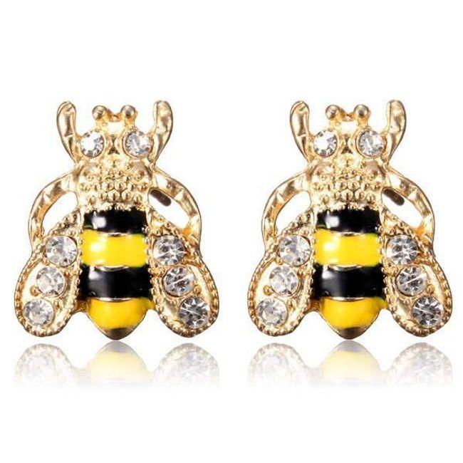Fülbevaló aranyos méhek formájában 1