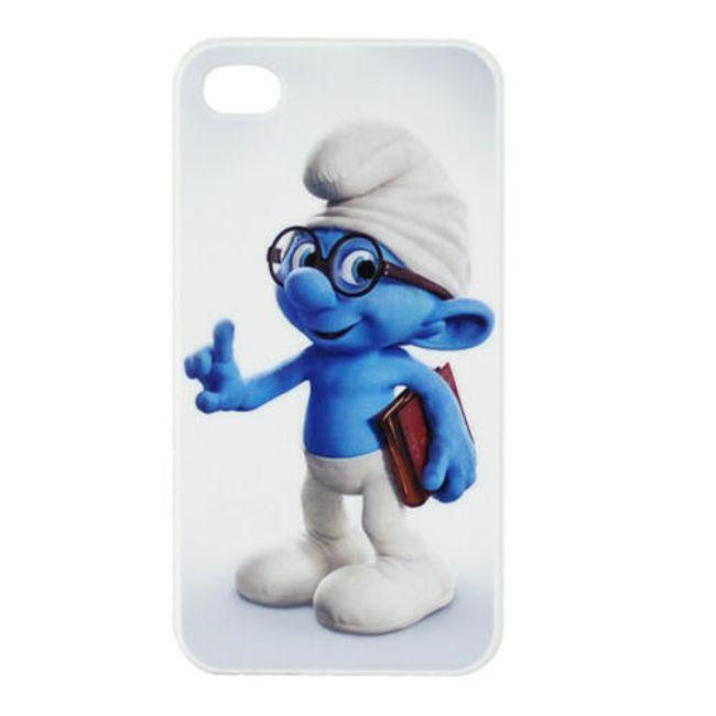 Plastový ochranný kryt na iPhone 4 a 4S - šmoula Koumák 1