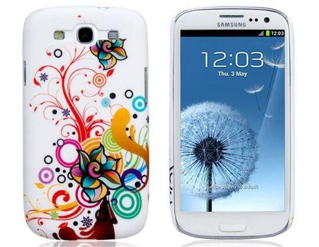 Tylne etui z retro kwiatkowym wzorem do Samsung Galaxy S3/I9300 1