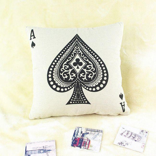 Povlak na polštář - poker A 1