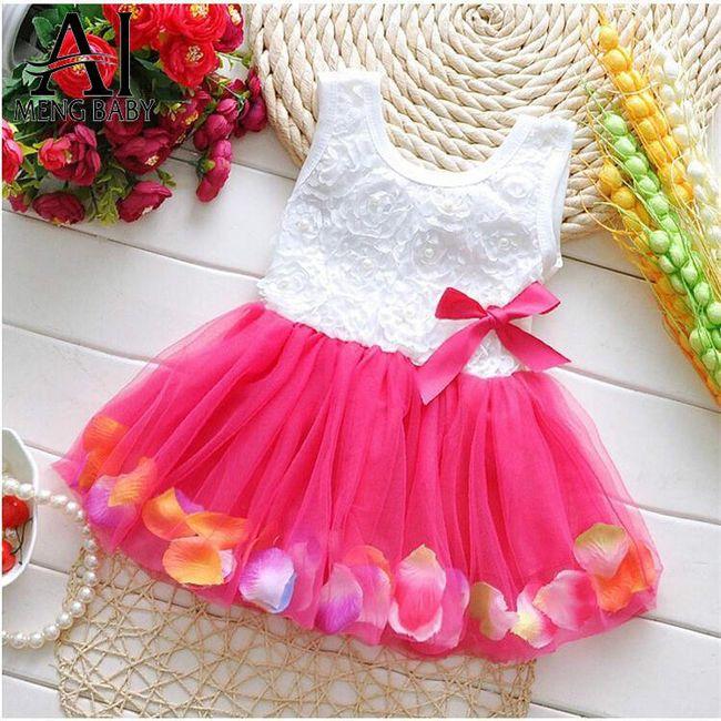 Svečana otroška obleka - 4 barve 1