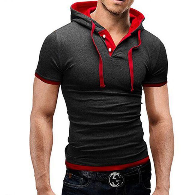 Moška modna majica s kapuco 1