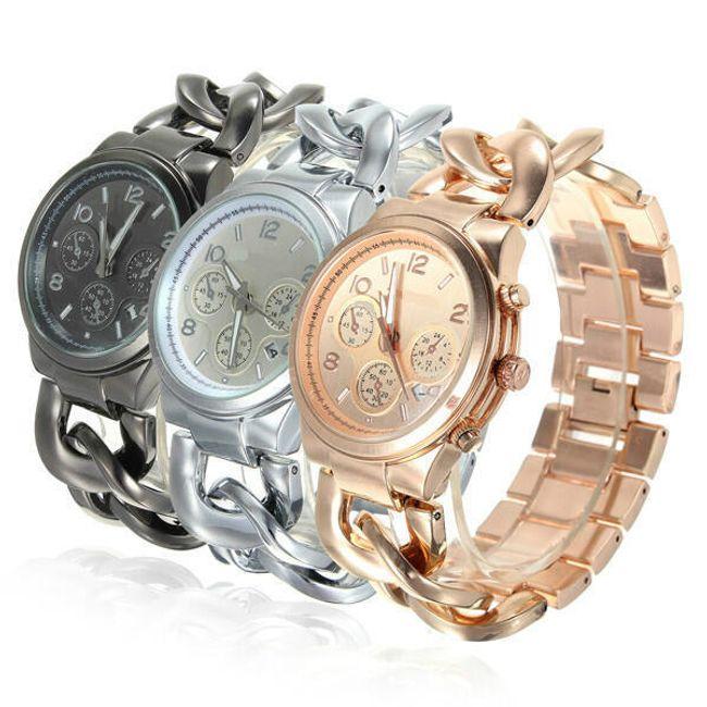 Kovové hodinky s funkcí kalendáře - na výběr ze tří barev 1