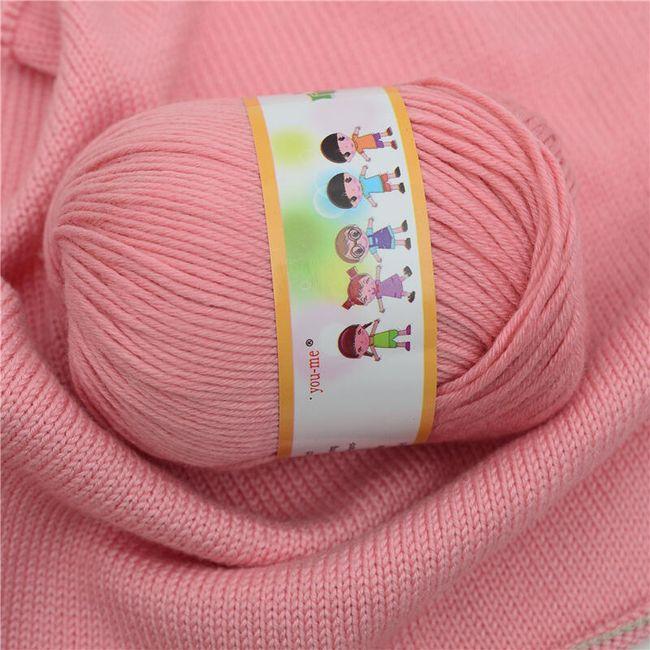 Bawełniana włóczka do robienia na drutach - 20 kolorów 1