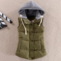 Дамска жилетка с качулка - 8 цвята