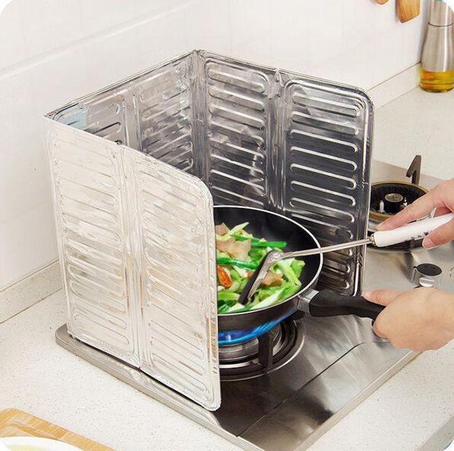 Aluminijasta plošča za preprečevanje brizganja olja 1