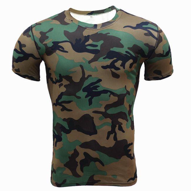 Pánské kompresní tričko krátký nebo dlouhý rukáv - více vzorů 1