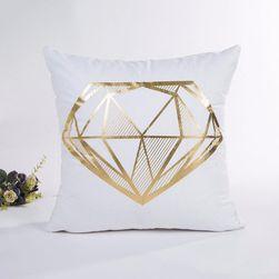 Poszewka na poduszkę 45 x 45 cm - złoty kolor