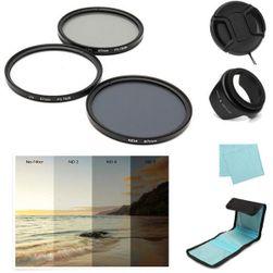 Set de filtre polarizante pentru lentile de 67 mm cu carcasă de protecție