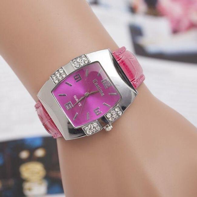 Елегантен часовник с камъчета - няколко цвята 1
