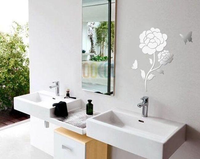 Luxusní samolepka na zeď v designu růže 1