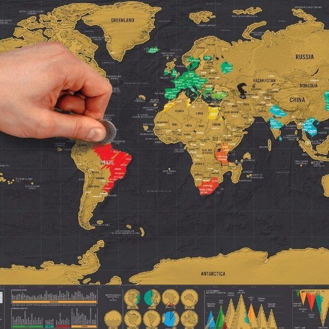 Karta sveta s premazom 1