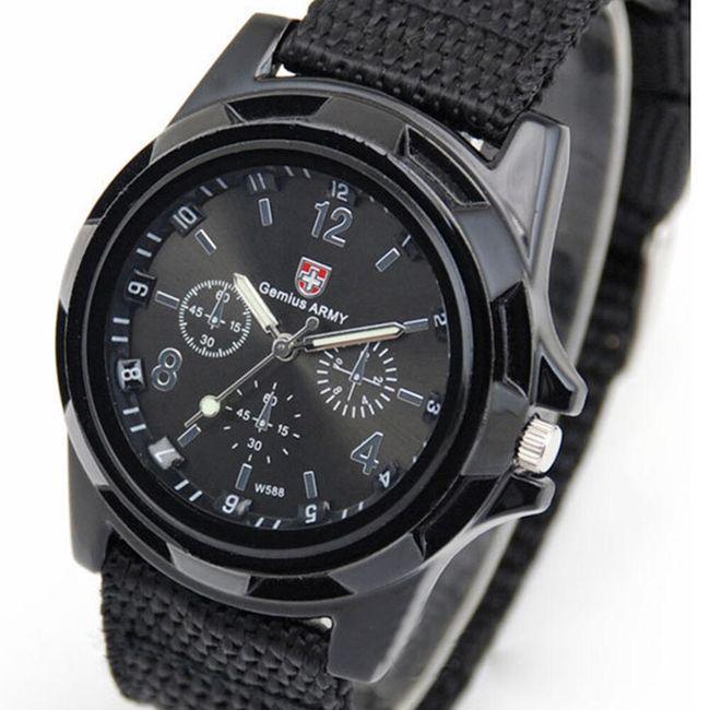 Pánské vojenské hodinky - černé 1