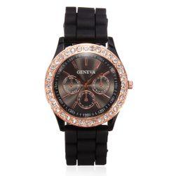 Silikonové hodinky Geneva v 11 atraktivních barvách - černá